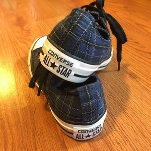 Converse Navy Plaid Low Top Sneaker